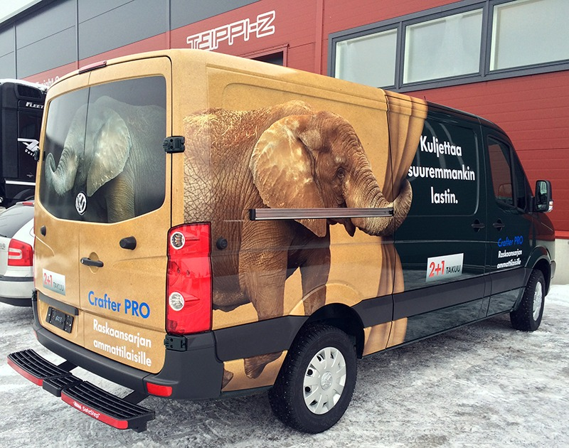 Autoteippaus, norsu